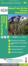 Wandelkaart - Fietskaart Oisans Champsaur - Massif des Ecrins | IGN TOP 75 nr. 6 | ISBN 9782758532705