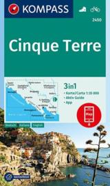Wandelkaart Cinque Terre | Kompass 2450 | 1:35.000 | ISBN 9783990445440