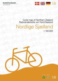 Fietskaart Noord-Sjaelland | Scanmaps nr. 1 | 1:100.000 | ISBN 9788779671164