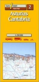 Wegenkaart - Fietskaart Asturias No. 2 | Cantabria | GeoEstel | 1:250.000 | ISBN 9788495788146