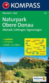 Wandelkaart Naturpark Obere Donau | Kompass 781 | 1:50.000 | ISBN 9783850260237