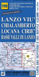 Wandelkaart Lanzo - Viu -Chialamberto - Locana | IGC nr. 110 | 1:25.000 - ISBN 9788896455401