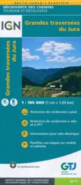 Fietskaart - Wandelkaart Grandes traversees du Jura met GR-5 | IGN 1:105.000 | ISBN 9782758547921