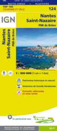 Wegenkaart - Fietskaart Nantes - Châteaubriant - St. Nazaire | IGN 124 | ISBN 9782758543701