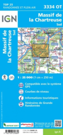 Wandelkaart Massif de la Chartreuse Sud | IGN 3334OT - IGN 3334 OT | ISBN 9782758539889