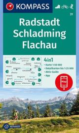 Wandelkaart Radstadt -Schladming - Flachau | Kompass 31 | 1:50.000 | ISBN 9783990444498