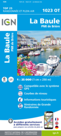 Wandelkaart La Baule & Parc Naturel Regional de Briere   IGN 1023OT – IGN 1023OT   ISBN 9782758551386