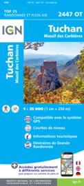 Wandelkaart Tuchan, Massif des Corbieres, Mouthoumet | Pyreneeën | IGN 2447OT - IGN 2447 OT | ISBN 9782758546481