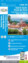 Wandelkaart St.-Jean-Pied-de-Port, St.-Etienne-de-Bai / Roncesvalles | Pyreneeën | IGN 1346OT - IGN 1346 OT | ISBN 9782758551409