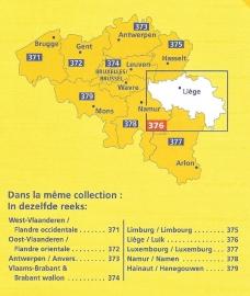 Wegen- en Fietskaart Luik - Liége   Michelin 376   1:150.000   ISBN 9782067185333