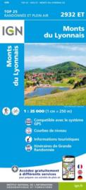 Wandelkaart Monts du Lyonnais | Rhônevallei - Bourgondië | IGN 2932 ET - IGN 2932ET
