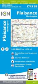 Topo-, wandelkaart Plaisance / Montesquiou |  IGN 1743SB | ISBN 9782758534747