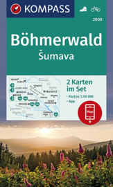 Wandelkaarten Böhmerwald - Šumava - Lipno | Kompass 2000 | 2-delige kaartenset | 1:50.000 | ISBN 9783990446430