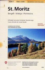 Wandelkaart St. Moritz - Bernina | Bundesamt 3320T |  ISBN 9783302333205