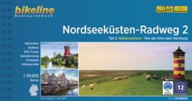 Fietsgids Nordseeküsten Radweg 2 : Ems - Hamburg - 564 km. | Bikeline ISBN 9783850009744