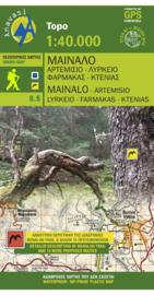 Wandelkaart Mt. Menalo / Mainalo - Peloponnesos | Anavasi 8.5 | 1:40.000 | ISBN 9789608195660)