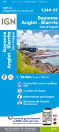 Wandelkaart Bayonne, Anglet, Biarritz, Côte D'Argent, Bidart,St-Martin-de-Seignanx    Franse Atlantische Kust   IGN 1344OT - IGN 1344 OT   ISBN 9782758551478
