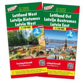 Wegenkaart - Fietskaart Letland Zuid en Noord | 1:150.000 | ISBN 9783707917734