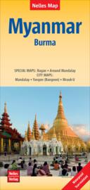Wegenkaart Myanmar | Nelles Verlag | ISBN 9783865745033