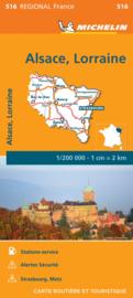 Wegenkaart Elzas - Lotharingen 2021 | Michelin 17516 | ISBN 9782067249691