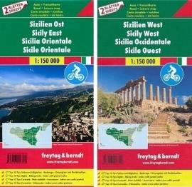 Fietskaart - wegenkaart Sicilië Oost en West | Freytag & Berndt | 1:150.000 | ISBN 9783707916720