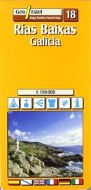 Wegenkaart - Fietskaart Rias Baixas- Galicia | GeoEstel No. T018 | 1:150.000 | ISBN 9788495788610