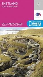 Wandelkaart Shetland, South Mainland | Ordnance Survey 4 | ISBN 9780319261026