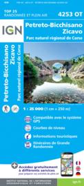Wandelkaart Petreto - Bicchisano - Zicavo - PNR de la Corse | Corsica -  IGN 4253OT - 4253 OT