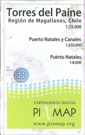 Wandelkaart Torres Del Paine Fiordos Natales | Pixi map | 1 :75.000 | ISBN 9789568887056