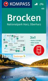 Wandelkaart  Rund um den Brocken | Kompass 455 | 1:25.000 | ISBN 9783990449219