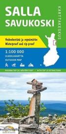 Wandelkaart Salla Savukoski   Karttakeskus  - Genimap   1:100.000   ISBN 9789522664570