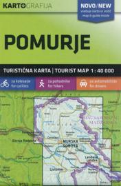Wandelkaart Pomurje - Slovenië | KartoGrafija | 1:40.000 | ISBN 3830048522533