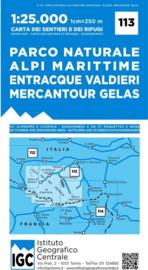 Wandelkaart Parco Naturella Alpi Marittime | IGC nr.113 | 1:25.000 - ISBN 9788896455432
