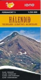 Wegenkaart Central Iceland - Halendid - Centraal IJsland | Ferdakort nr. 5 | 1:250.000 | ISBN 9789979674252