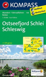 Wandelkaart Ostseefjord Schlei, Schleswig - Schlei | Kompass 708 | 1:50.000 | ISBN 9783850268981