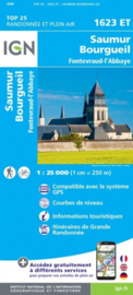 Wandelkaart Saumur, Bourgueil, Fontevraud-l'Abbaye | Loire | IGN 623 ET - IGN 1623ET | ISBN 9782758546382