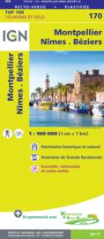 Wegenkaart - fietskaart Montpellier - Nimes | IGN 170 | ISBN 9782758547785