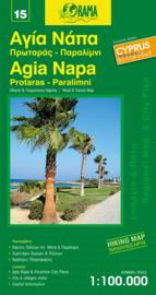 Wegenkaart - Fietskaart  Agia Napa - Protaras - Paralimni (15) Cyprus   1:100.000   Orama editions   ISBN 9789604486724