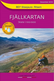 Wandelkaart Sitasjaure : Ritsem Fjällkarta | Lantmateriet BD07 | ISBN 9789158895850