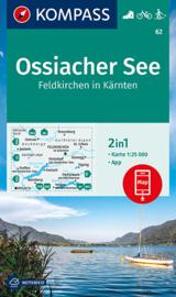 Wandelkaart Ossiacher See-Feldkirchen in Kärnten   Kompass 62   1:50.000   ISBN 9783991210009