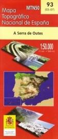 Wandelkaart - Topografische kaart A Serra de Outes | 1:50.000 | CNIG 93 | ISBN 9788498104875