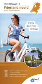 Fietskaart Friesland noord 2 | ANWB |  Fietskaart 1:50.000 | ISBN 9789018041732