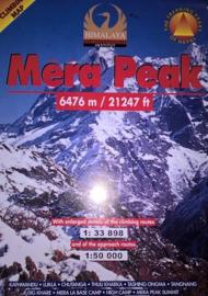 Wandelkaart / Klimkaart Mera Peak 6476 meter | Nepa Maps | 1:33.898 / 1:50.000 | 9799993323012