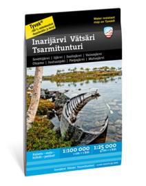 Wandelkaart - waterkaart Inarisee - Inarijarvi - Vätsäri - Tsarmitunturi | Calazo | 1:25.000 / 1:100.000 | ISBN 9789188335692