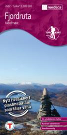 Wandelkaart Fjordruta 2607 | Nordeca | 1:100.000 | ISBN 7046660026076