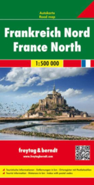 Wegenkaart Frankrijk Noord | Freytag & Berndt | 1:500.000 | ISBN 9783707905809