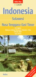 Wegenkaart Sulawesi, Kleine Sunda Eilanden (Flores, Sumbawa, Sumba) & Oost Timor | Nelles | 1:1,5 miljoen | ISBN 9783865742841