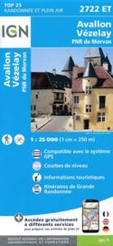 Wandelkaart Avallon, Vezelay | PN Morvan | IGN 2722ET - IGN 2722 ET | ISBN 9782758538868
