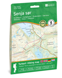 Wandelkaart Senja Zuid 3028 | 1:50.000 | ISBN 7046660030288