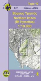 Wandelkaart Noord- en Zuid Hymettus   Anavasi 1.2   1:10.000   ISBN 9789609412520